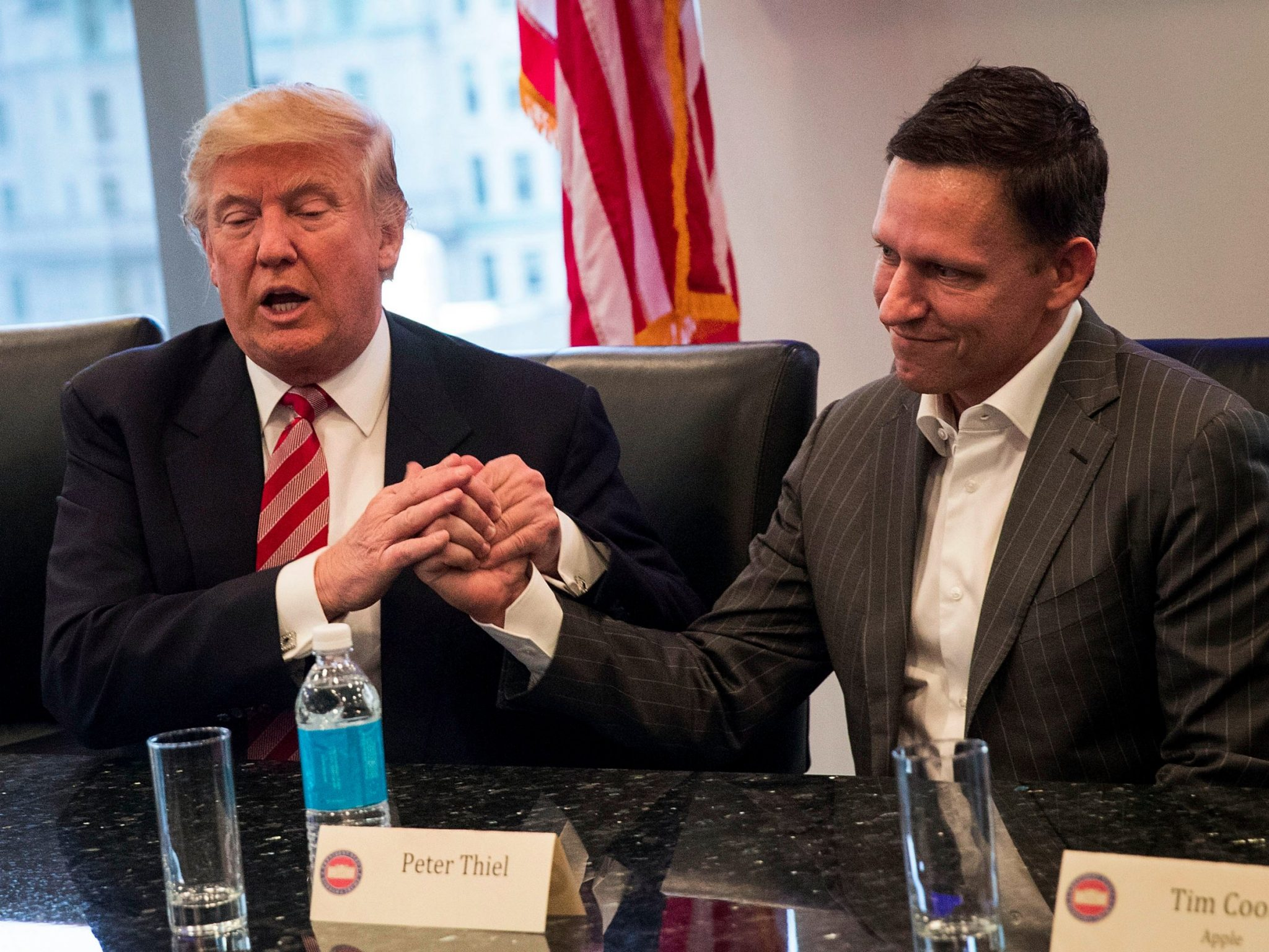 President Trump and Crypto-Neoreactionary Peter Thiel have a secret and private sit-down with Mark Zuckerberg